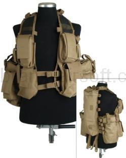 Army shop Taktické vesty - Taktická vesta 12 písková