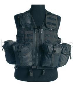 Army shop Taktické vesty - Taktická vesta MOLLE 8 černá