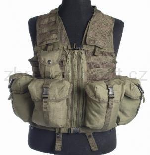 Army shop Taktické vesty - Taktická vesta MOLLE 8 zelená