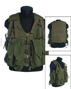 Army shop Taktické vesty - Taktická vesta MOLLE AK zelená