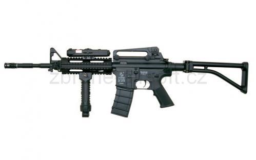 zbraně ICS plastic - ICS M4 A1 R.A.S. Folding Stock - Plastic