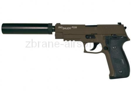 pistole CyberGun - Sig Sauer P226 OD s tlumičem celokov