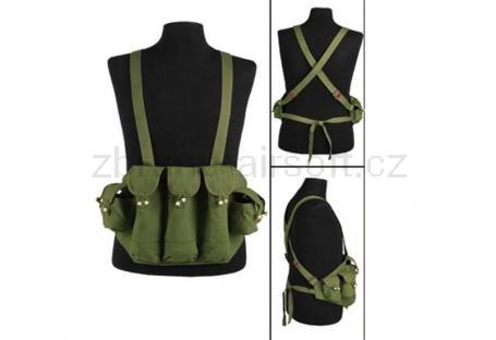 Taktické vesty Mil-Tec - Bandalír Vietnam AK zelený